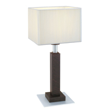 Eglo 20099A - 1x60W Table Lamp w/ Antique Brown Finish & Beige Shade