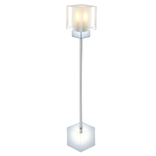 Eglo 20122A - 1x40W Table Lamp w/ Chrome F inish & Clear & Satin Glass