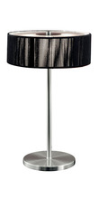 Eglo 87626A - 3X40W Table Lamp w/ Matte Nickel Finish & Black Fabric Shade