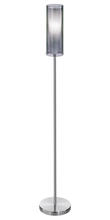 Eglo 90309A - 1x100W Floor Lamp w/ Matte Nickel Finish & Smoked & Inner White Glass Surrounded by an Outer Smoked