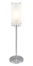 Eglo 90342A - 1x23W Table Lamp w/ Matte Nickel Finish & Frosted & Clear Glass