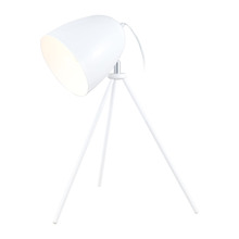 Eglo 92889A - 1x60W Table Lamp w/ Glossy White Finish