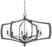 Minka-Lavery 4376-579 - 6 Light Chandelier