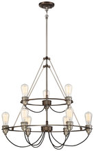 Minka-Lavery 4459-784 - 9 Light Chandelier