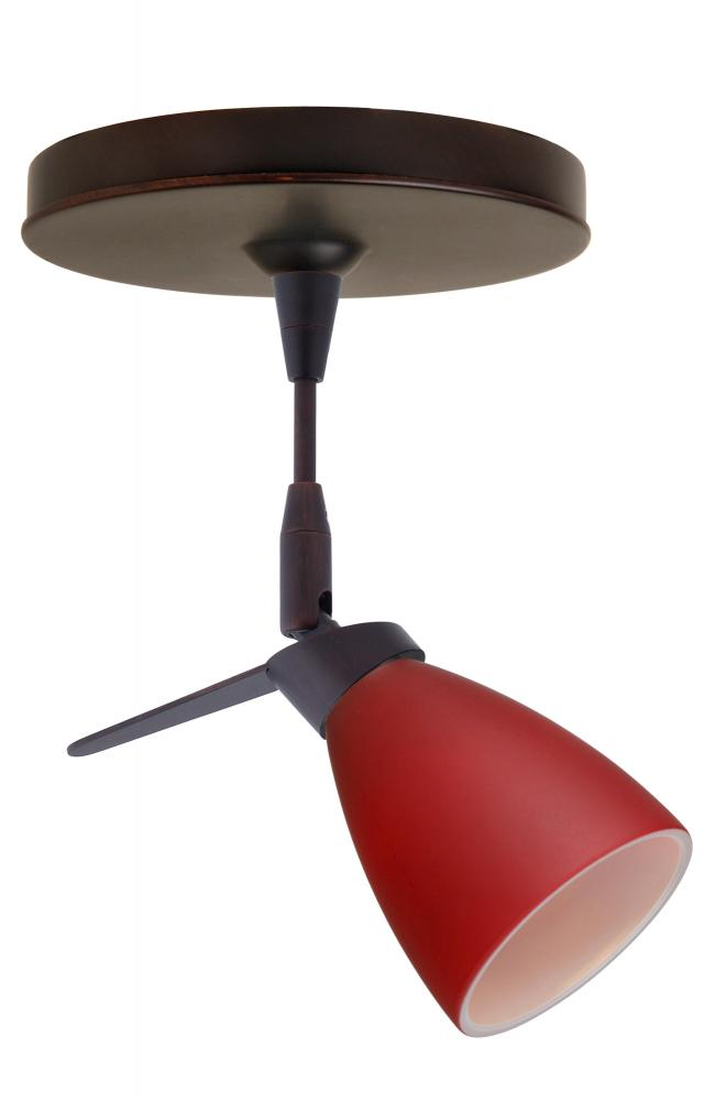 Besa Spotlight Andi Bronze Red Matte 1x35W MR11