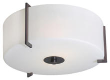 Eglo 20462A - Oil Rubbed Bronze  Drum Shade Flush Mount