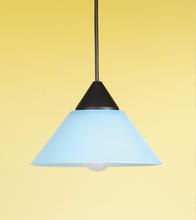 Eglo 7423ZS - 1x60W Mini Pendant w/ Black Finish & Blue Glass