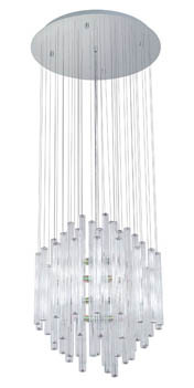 Eglo 89006A - 12x25W Chandelier w/ Chrome Finish & Clear Glass