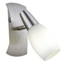 Eglo 89974A - 1x60W Wall Light w/ Matte Nickel Finish & Frosted Glass