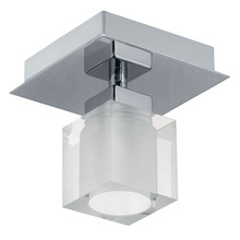 Eglo 90117A - 1x60W Ceiling Light w/ Matte Nickel & Opal Frosted Glass