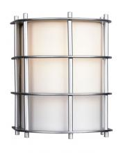 Forecast F849041NV - One-light Outdoor Wall in Vista Silver finish with etched white opal glass