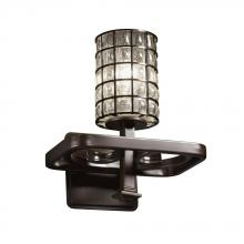 Justice Design Group WGL-8561-10-GRCB-NCKL - Arcadia 1-Light Wall Sconce