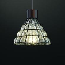 Justice Design Group WGL-8809-GRCB-DBRZ - 1-Light Large Cone Pendant