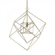 Dimond 1141-014 - Neil 1 Light Box Pendant In Gold Leaf - Large