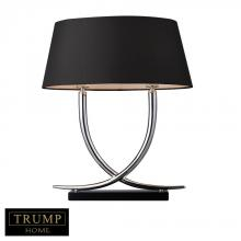 Dimond D1486 - Trump Home Park East 2 Light Table Lamp In Chrome And Black