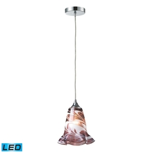 ELK Lighting 31342/1VPUR-LED - One Light Polished Chrome Down Pendant