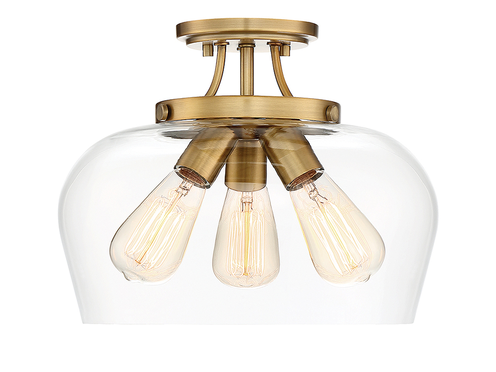 Octave 3 Light Semi Flush 6 4035