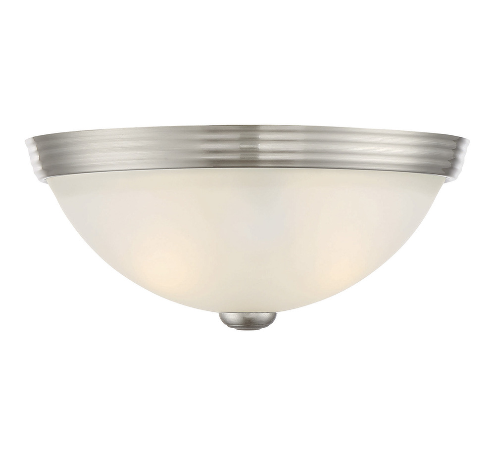 11 Flush Mount White Gl 6 780 Sn Flushing Lighting