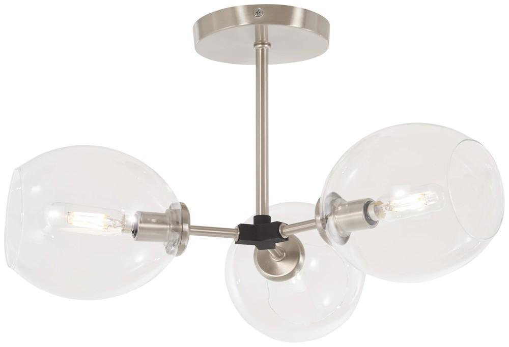 3 Light Semi Flush P1363 619